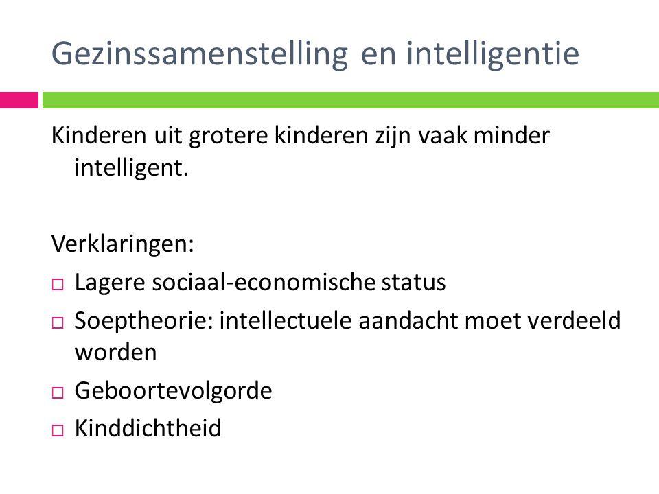 Kinderen uit grotere kinderen zijn vaak minder intelligent.