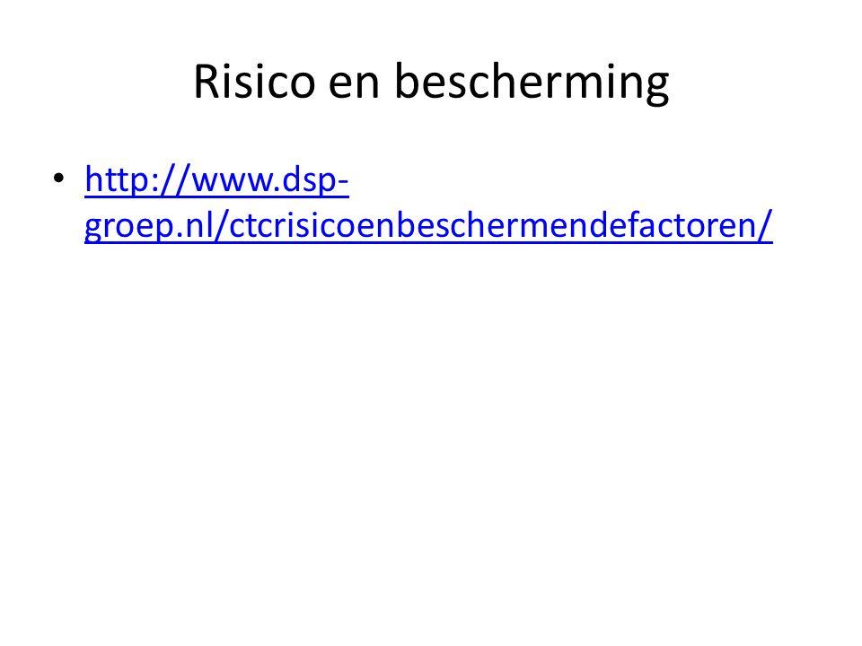 Risico en bescherming http://www.dsp- groep.nl/ctcrisicoenbeschermendefactoren/ http://www.dsp- groep.nl/ctcrisicoenbeschermendefactoren/
