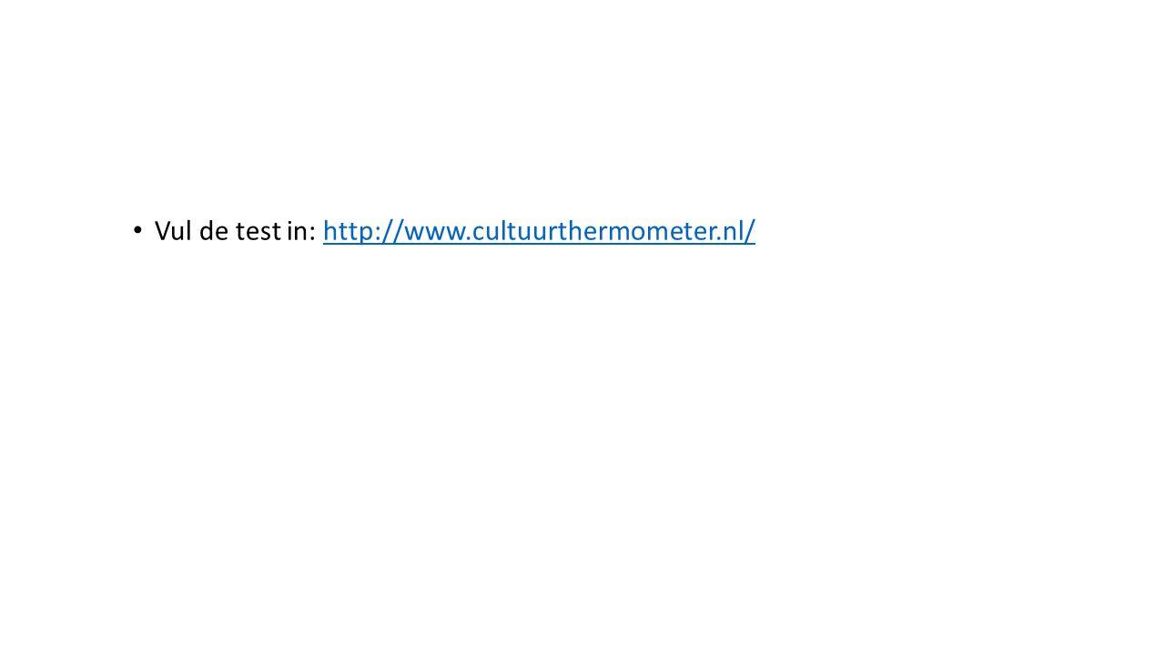 Vul de test in: http://www.cultuurthermometer.nl/http://www.cultuurthermometer.nl/