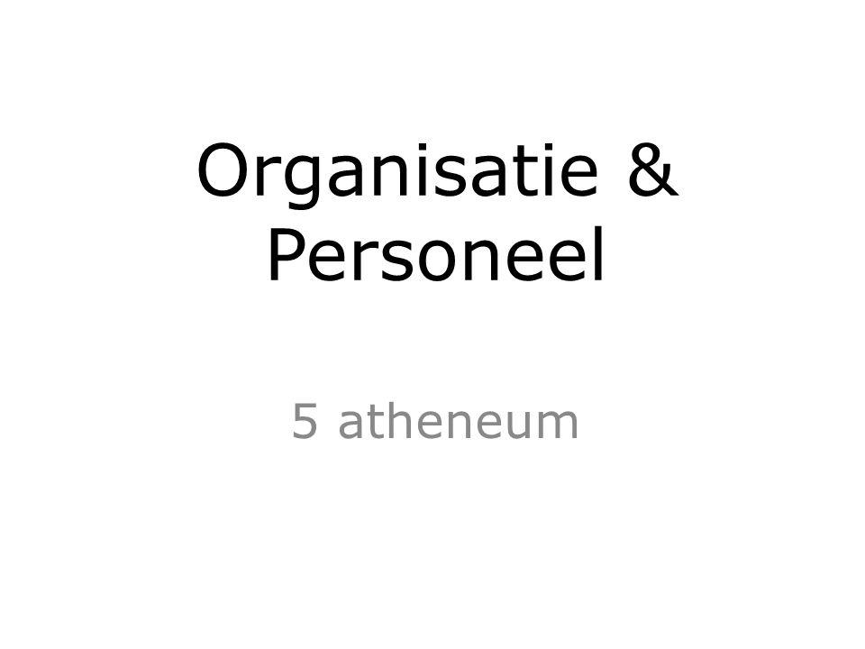 Organisatie & Personeel 5 atheneum