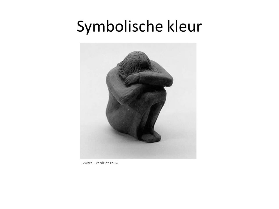 Symbolische kleur Zwart – verdriet, rouw