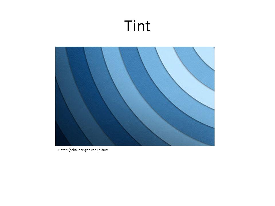Tint Tinten (schakeringen van) blauw