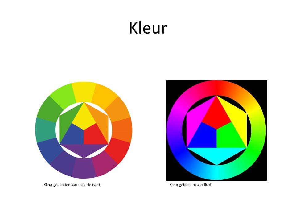 Kleur Kleur gebonden aan materie (verf) Kleur gebonden aan licht