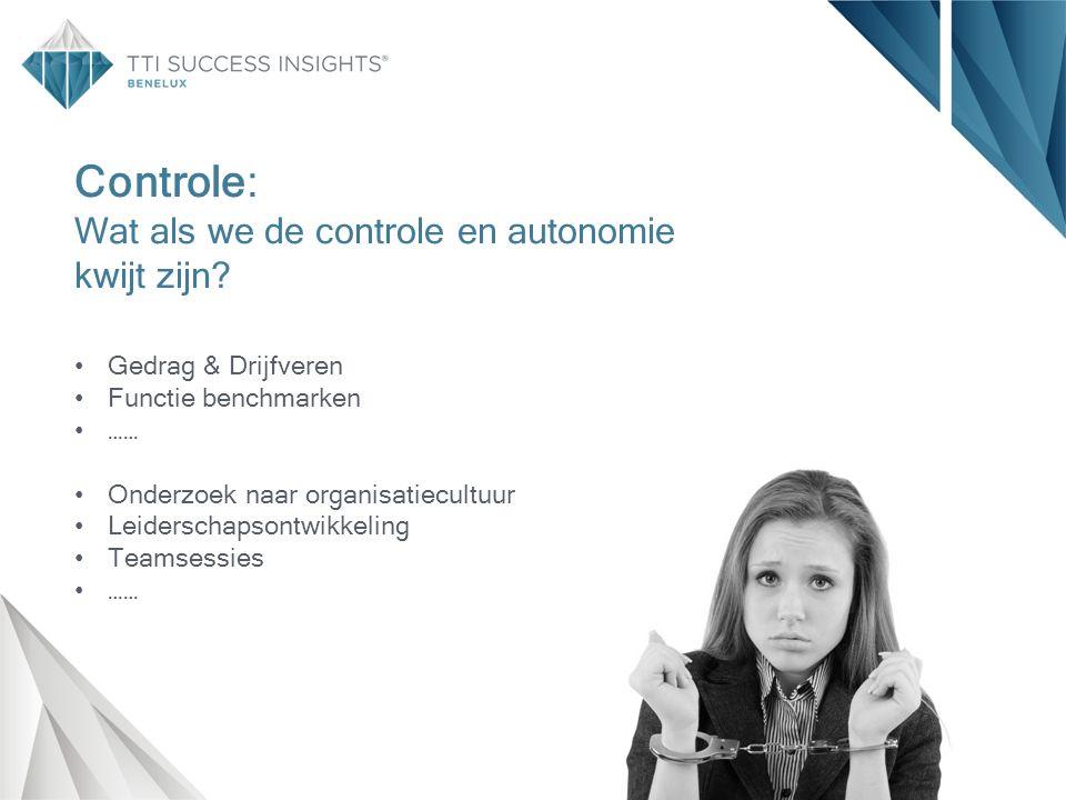 Controle: Wat als we de controle en autonomie kwijt zijn.