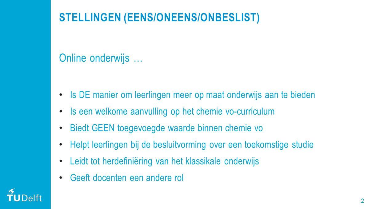 3 DEZE MASTERCLASS 1.Uw ervaringen met online onderwijs 2.Waarom kiest TU Delft voor online onderwijs 3.MOOC als voorbeeld van online onderwijs 1.Wat is een MOOC.
