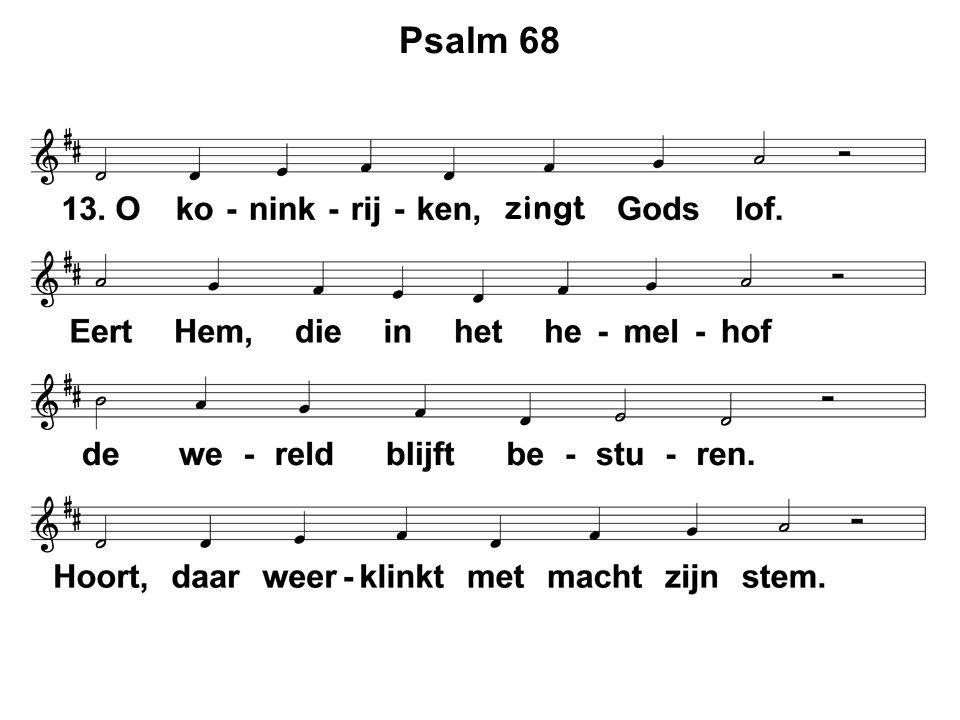 Psalm 68 zingt