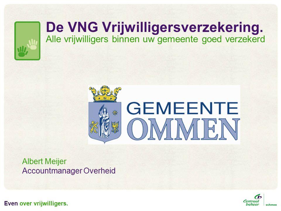 Even over vrijwilligers. De VNG Vrijwilligersverzekering.