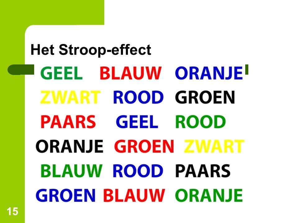 15 Het Stroop-effect
