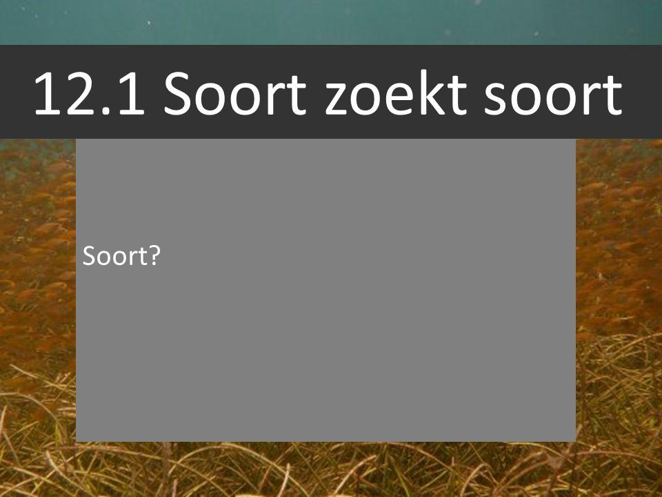 12.1 Soort zoekt soort Soort?