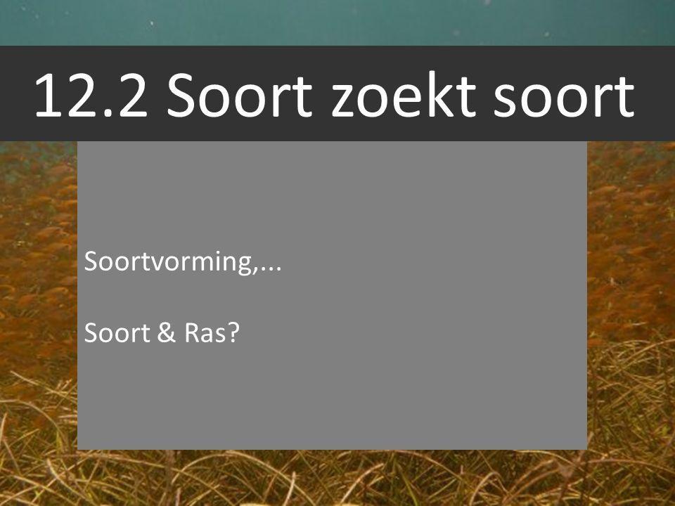 12.2 Soort zoekt soort Soortvorming,... Soort & Ras?