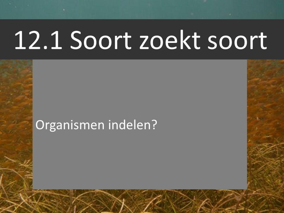 12.1 Soort zoekt soort Organismen indelen?