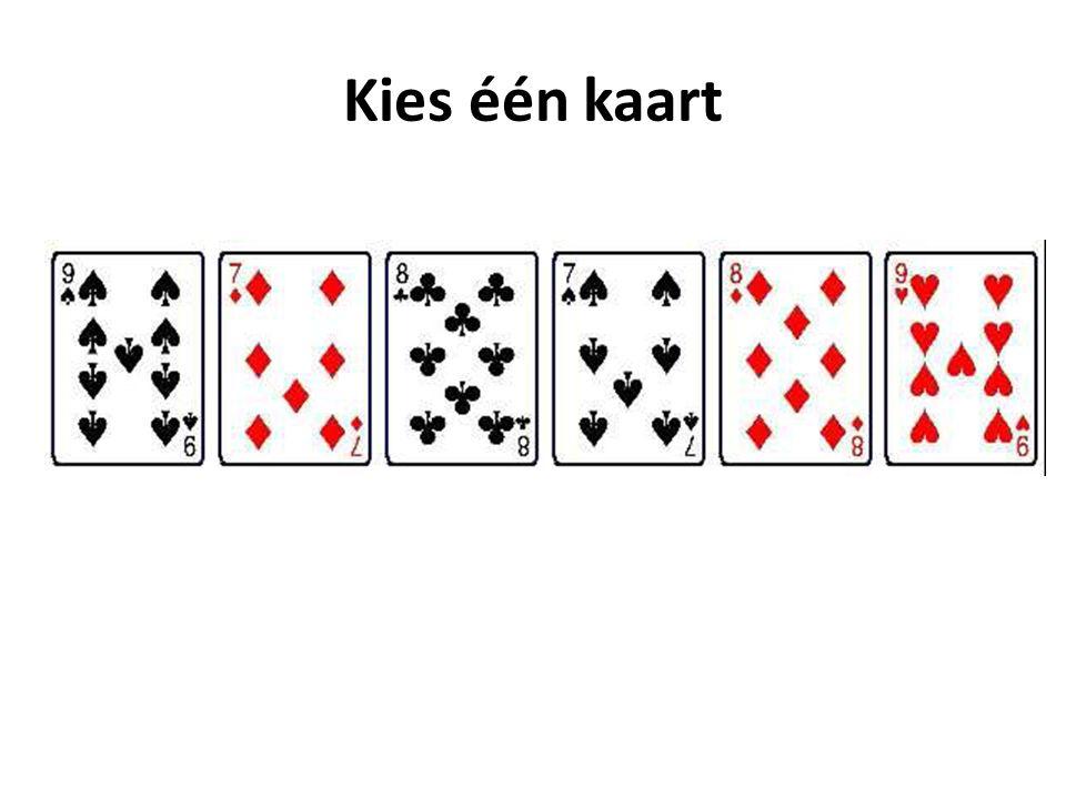 Kies één kaart