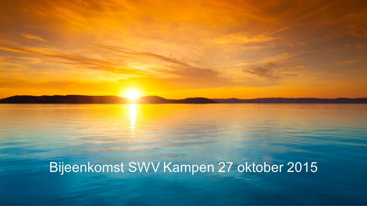 Bijeenkomst SWV Kampen 27 oktober 2015
