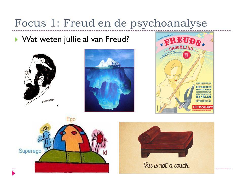 Focus 1: Freud en de psychoanalyse  Wat weten jullie al van Freud?