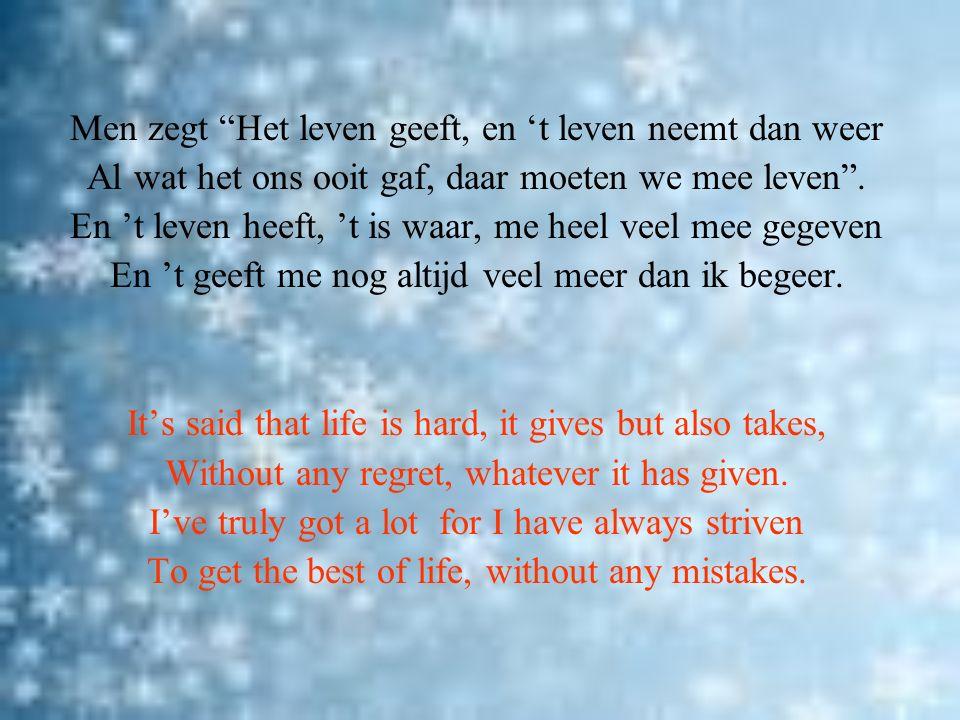 Nieuwjaarssonnet 2011 Geven en Nemen New year's sonnet 2011 Give and Take © paul verstraete 2011