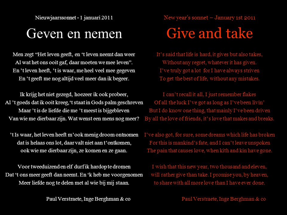 Paul, Inge & co wensen u voor 2011. Gelukkig nieuwjaar Paul, Inge & co wish you for 2011. Happy new year © paul verstraete 2011