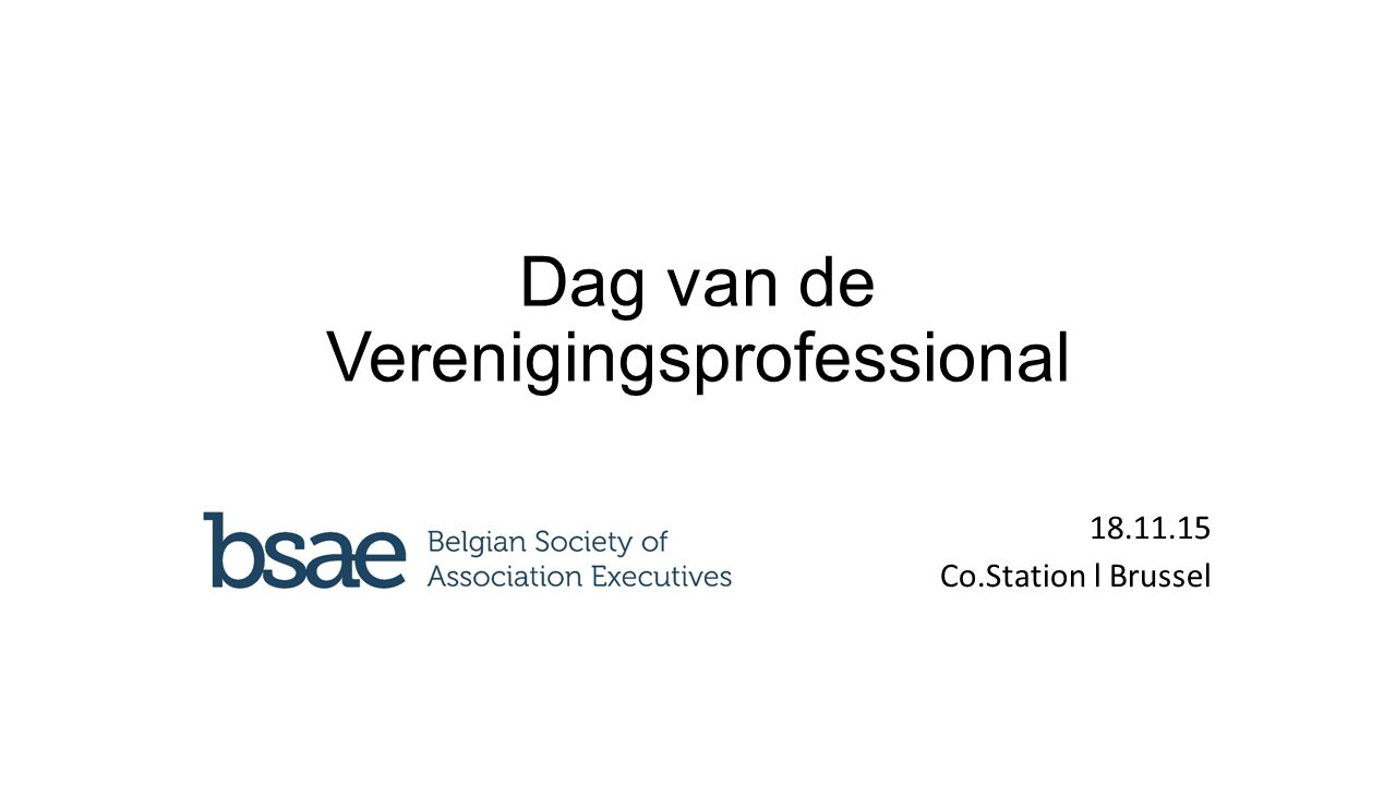 Dag van de Verenigingsprofessional 18.11.15 Co.Station l Brussel
