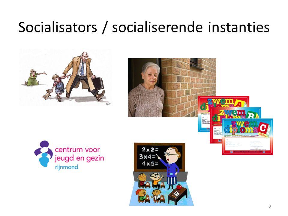 Socialisators / socialiserende instanties 8