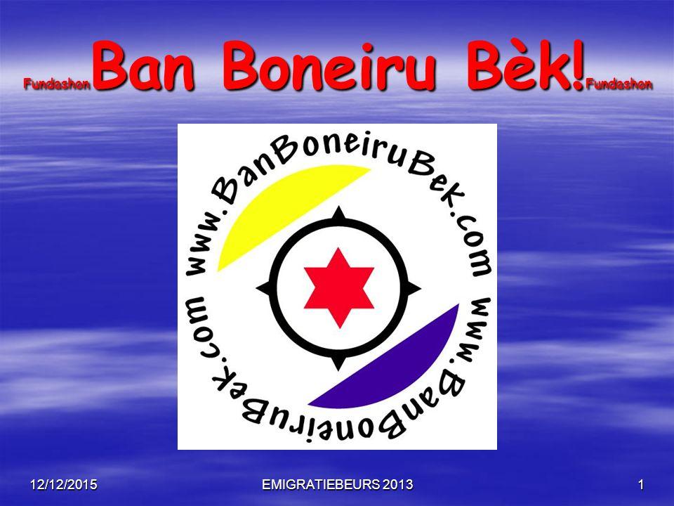12/12/2015EMIGRATIEBEURS 20132 Fundashon Ban Boneiru Bèk! Fundashon