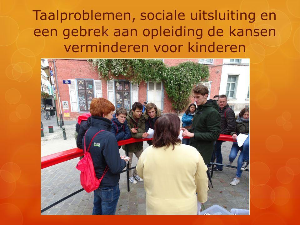 Taalproblemen, sociale uitsluiting en een gebrek aan opleiding de kansen verminderen voor kinderen