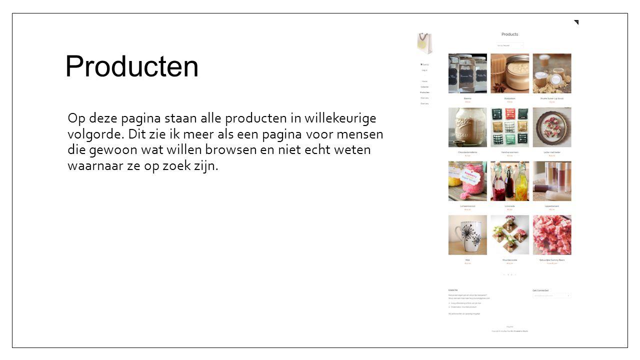 Producten Op deze pagina staan alle producten in willekeurige volgorde.