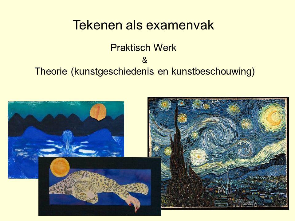 Tekenen als examenvak Praktisch Werk & Theorie (kunstgeschiedenis en kunstbeschouwing)