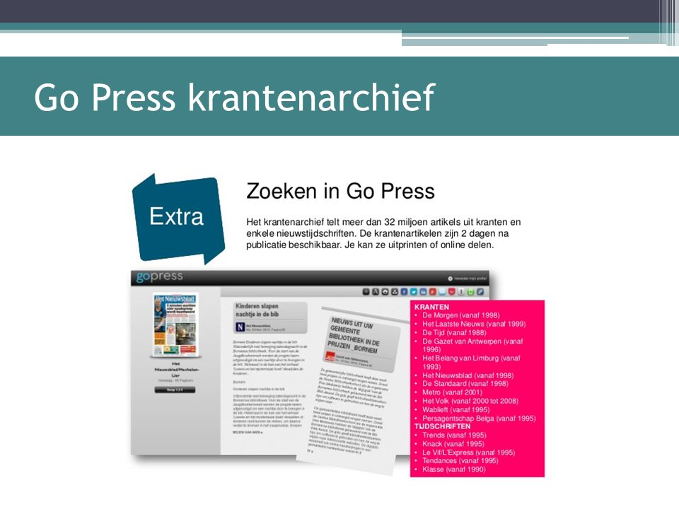 Go Press krantenarchief