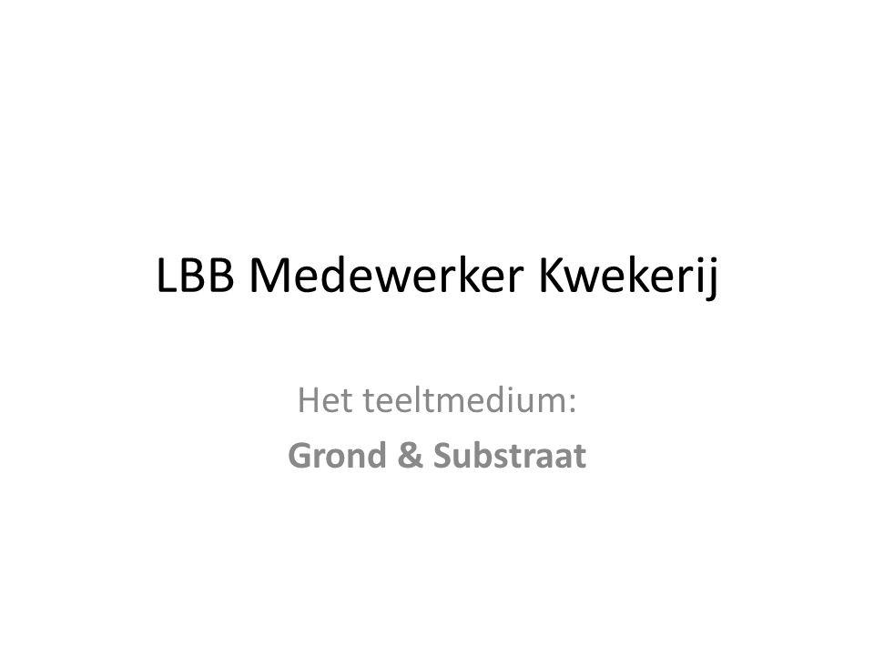 LBB Medewerker Kwekerij Het teeltmedium: Grond & Substraat