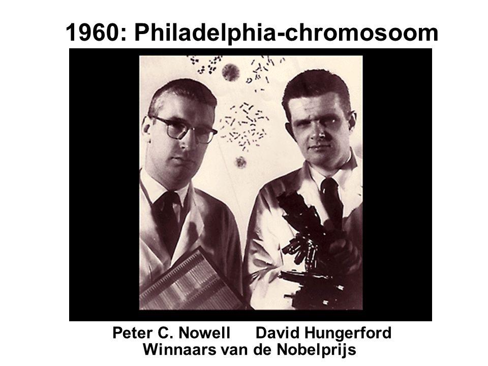 Peter C. NowellDavid Hungerford 1960: Philadelphia-chromosoom Winnaars van de Nobelprijs