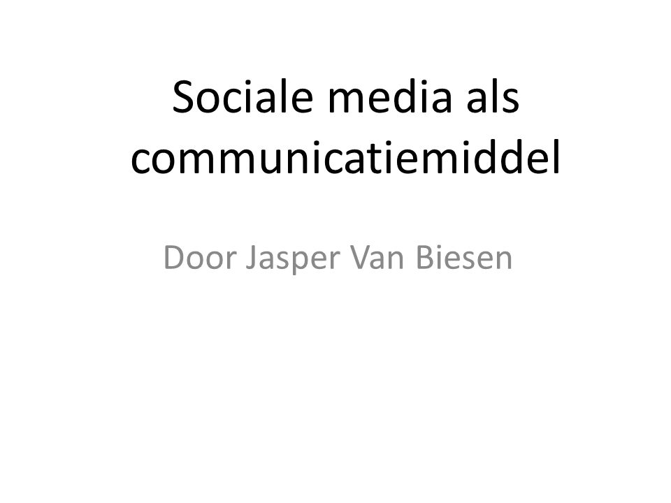 Drie belangrijke kanalen Facebook Yammer LinkedIn