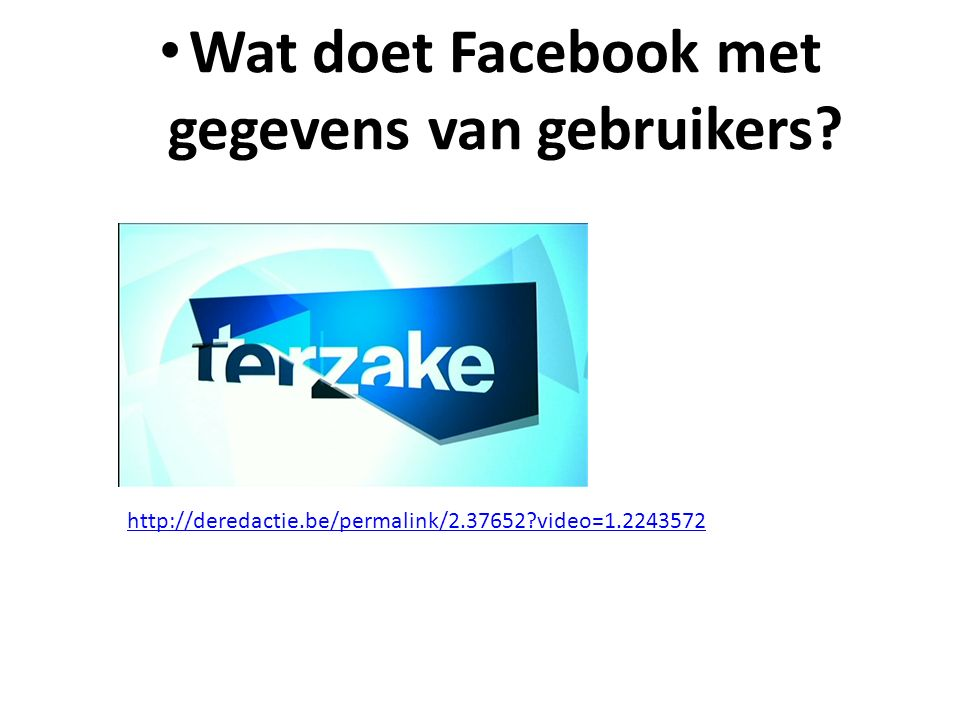 Wat doet Facebook met gegevens van gebruikers.