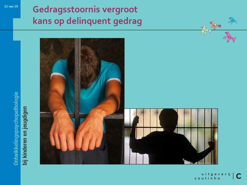 22 van 29 Gedragsstoornis vergroot kans op delinquent gedrag