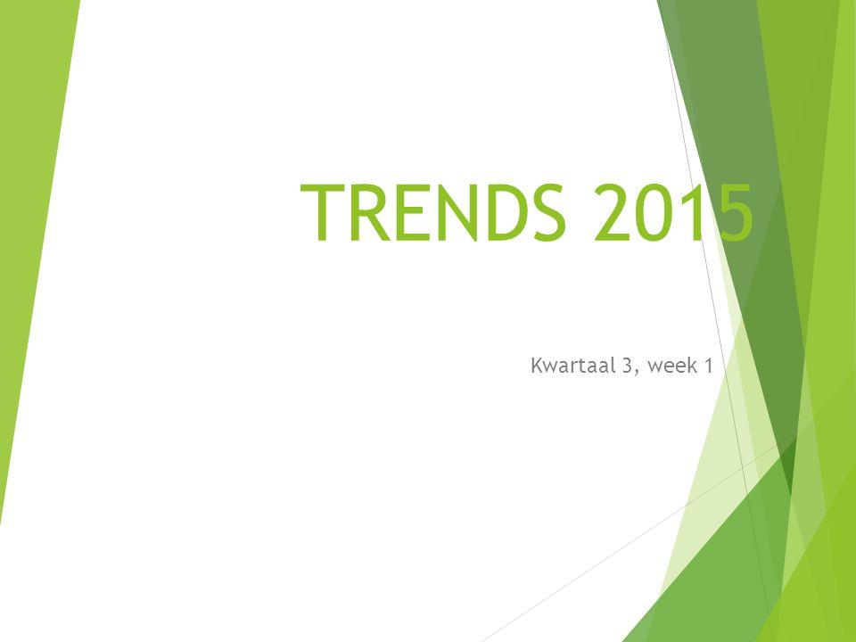 TRENDS 2015 Kwartaal 3, week 1