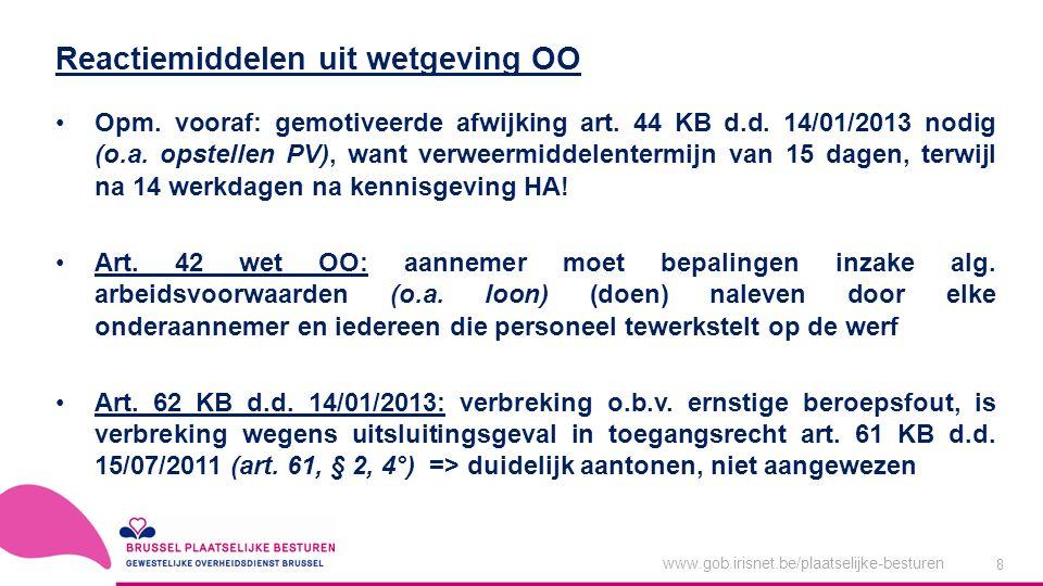 www.gob.irisnet.be/plaatselijke-besturen 8 Opm. vooraf: gemotiveerde afwijking art.