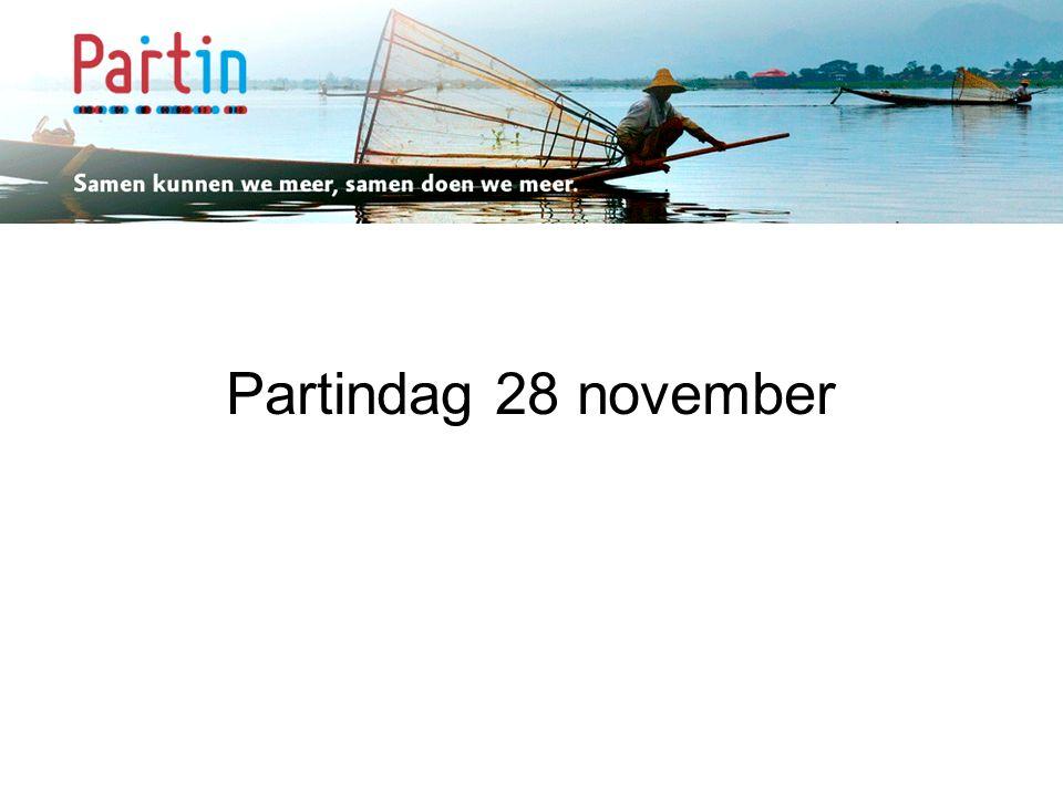 Samen kunnen we meer … Partindag 28 november
