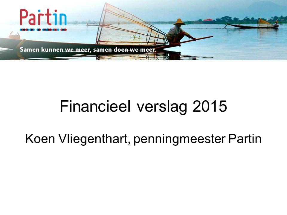 Samen kunnen we meer … Financieel verslag 2015 Koen Vliegenthart, penningmeester Partin
