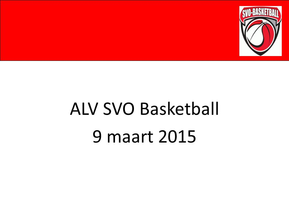 ALV SVO Basketball 9 maart 2015