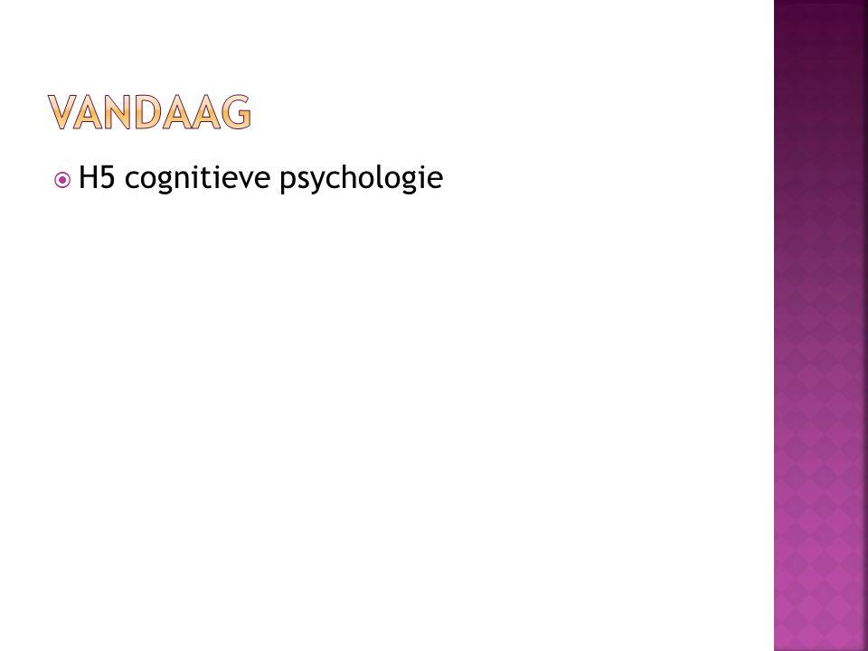  Reactie op het behaviorisme, uitgangsputen grotendeels tegengesteld  De 'binnenkant' (hersenprocessen) van een organisme wordt onderzocht om gedrag adequaat te begrijpen  centralisme  De cognitiefpsycholoog wil begrijpen hoe gedrag tot stand komt.