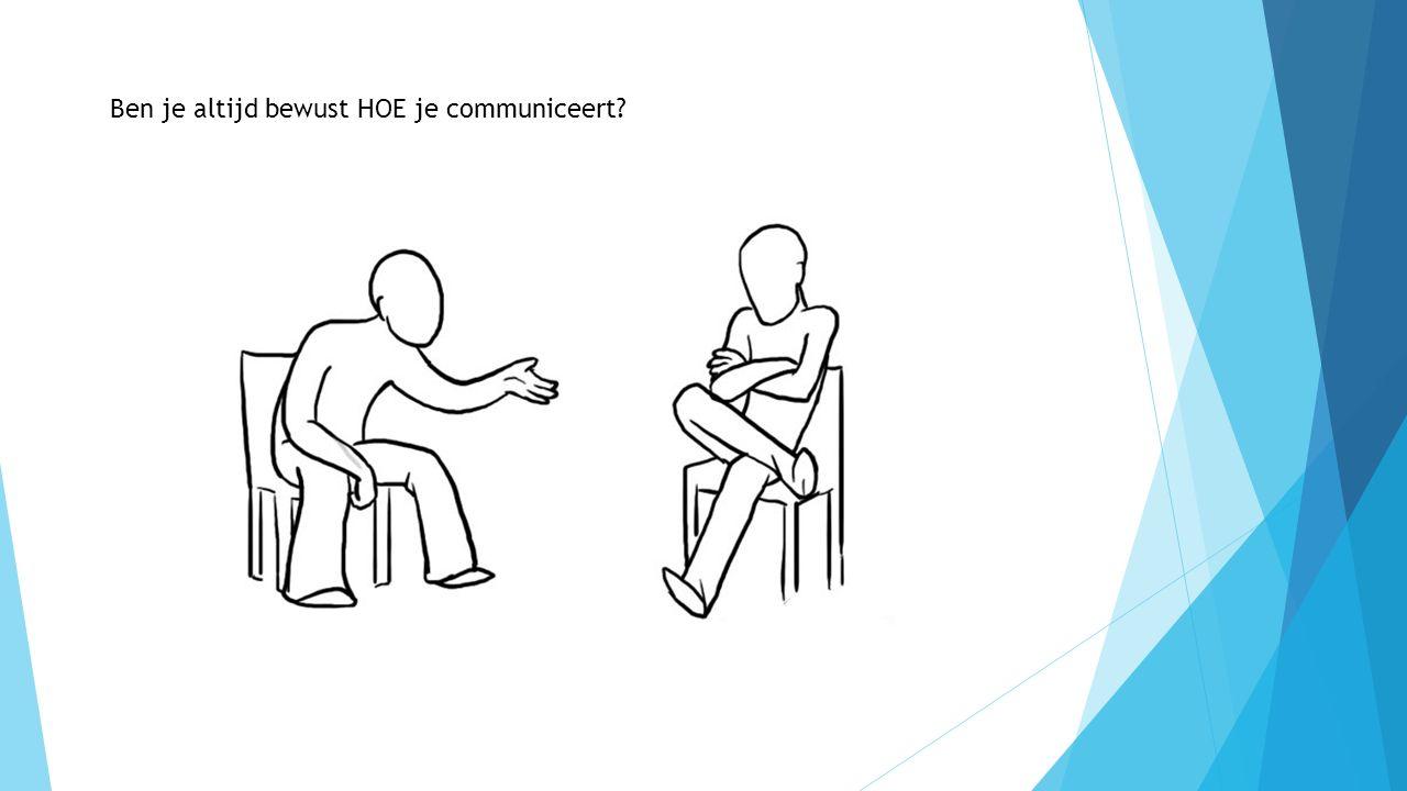 Ben je altijd bewust HOE je communiceert?