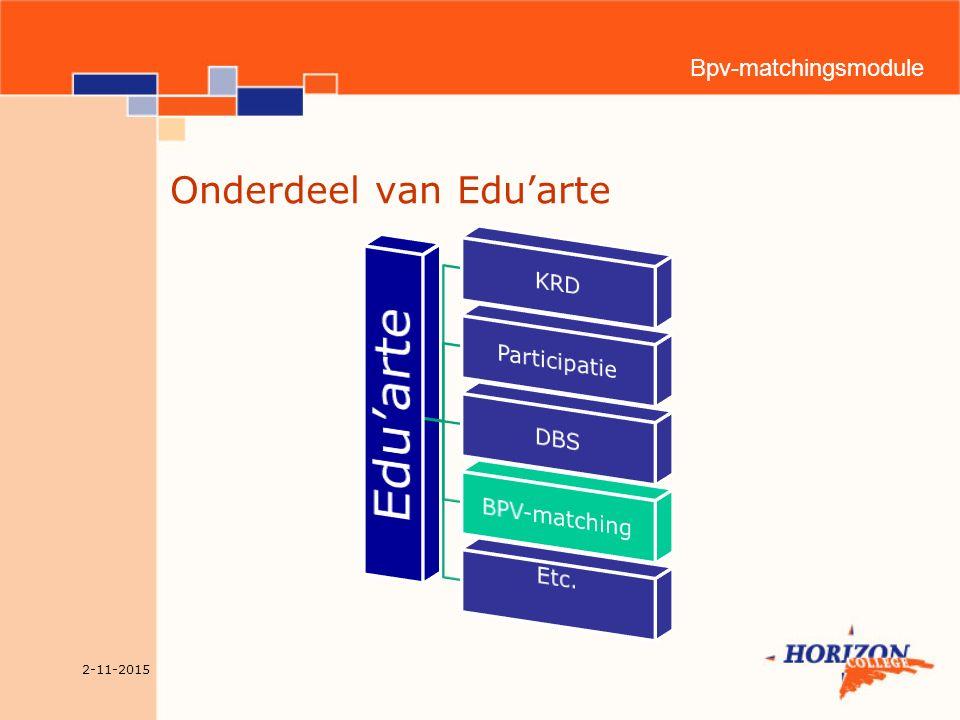 Bpv-matchingsmodule Functionaliteit