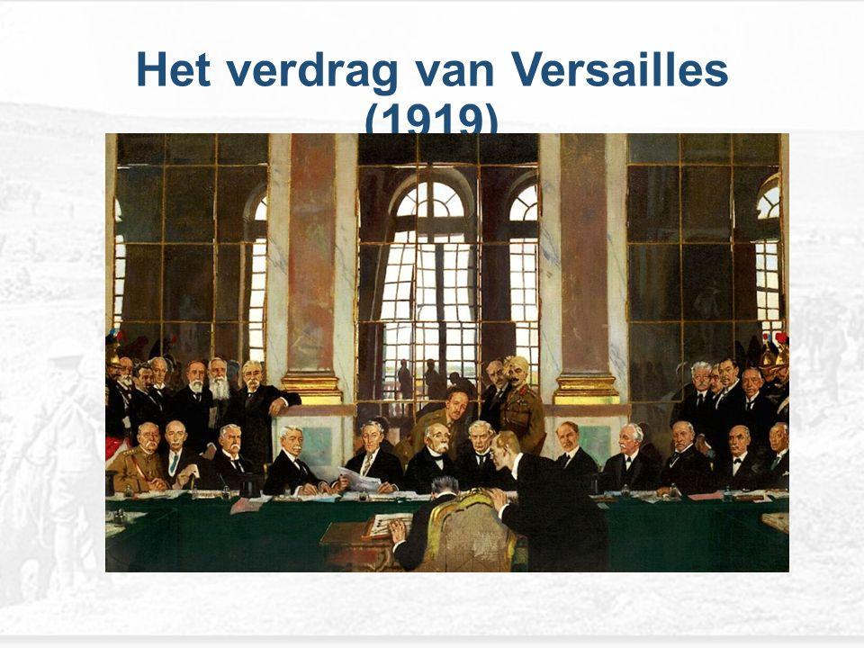 In 1919 kwamen de overwinnaars van de oorlog in Parijs bijeen om over een vredesregeling te onderhandelen er werden diverse verdragen gesloten.