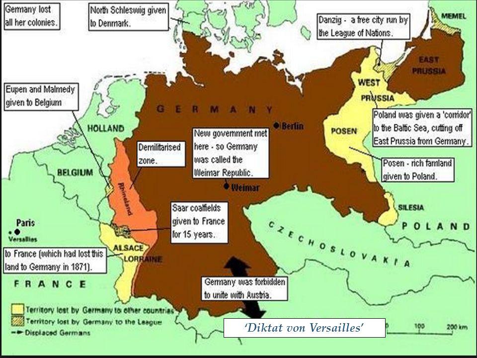 Prenten naar aanleiding van het Verdrag van Versailles. Kun je ze verklaren?.