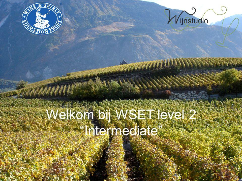 Welkom bij WSET level 2 Intermediate