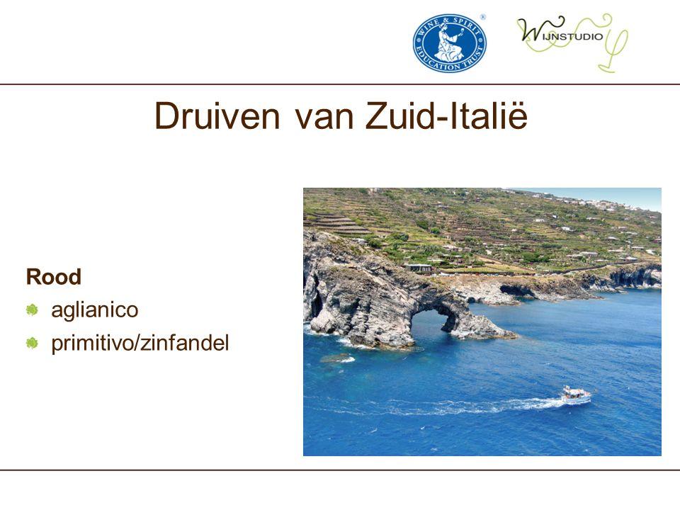 Druiven van Zuid-Italië Rood aglianico primitivo/zinfandel