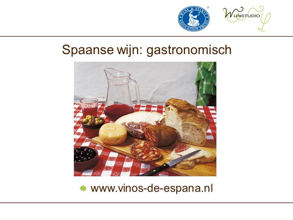 Spaanse wijn: gastronomisch www.vinos-de-espana.nl
