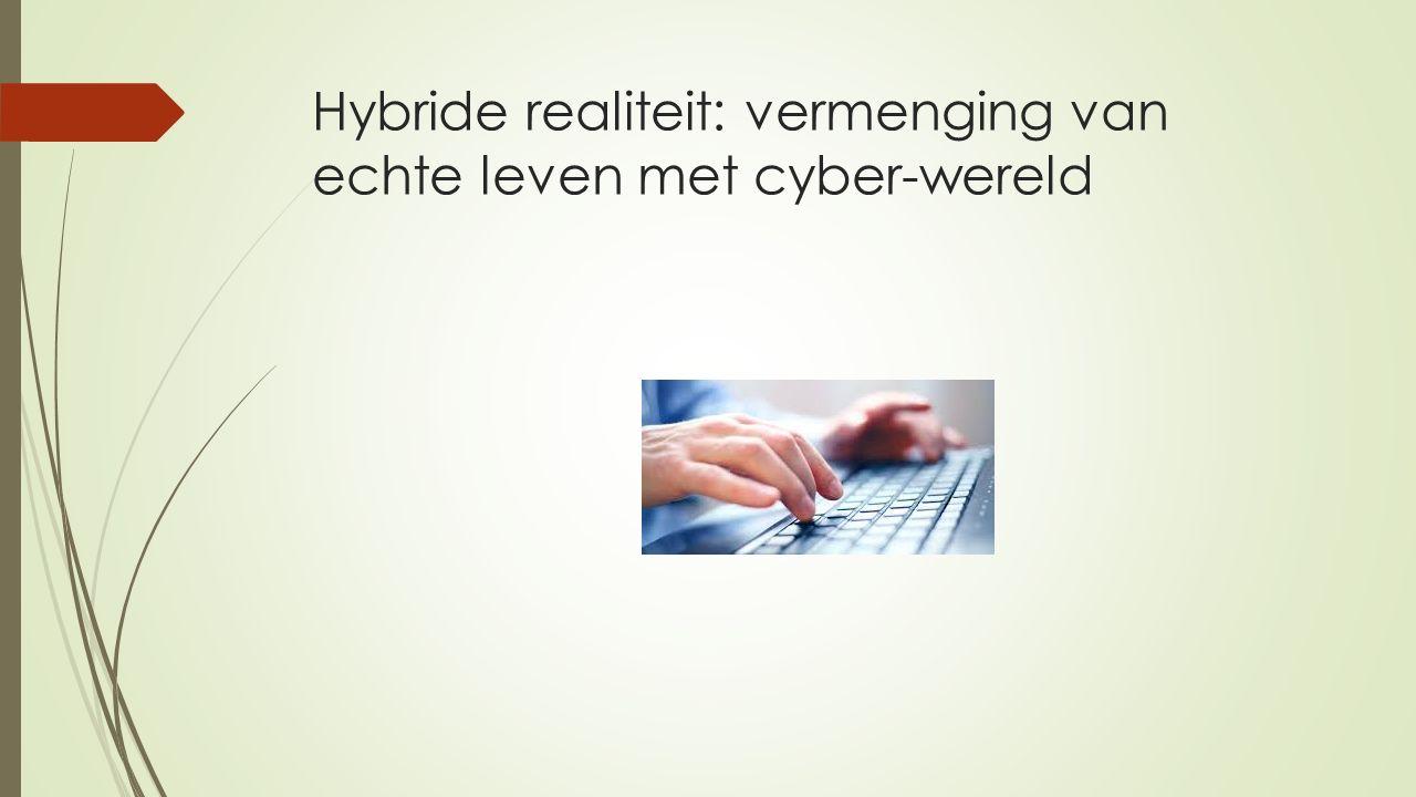 Hybride realiteit: vermenging van echte leven met cyber-wereld