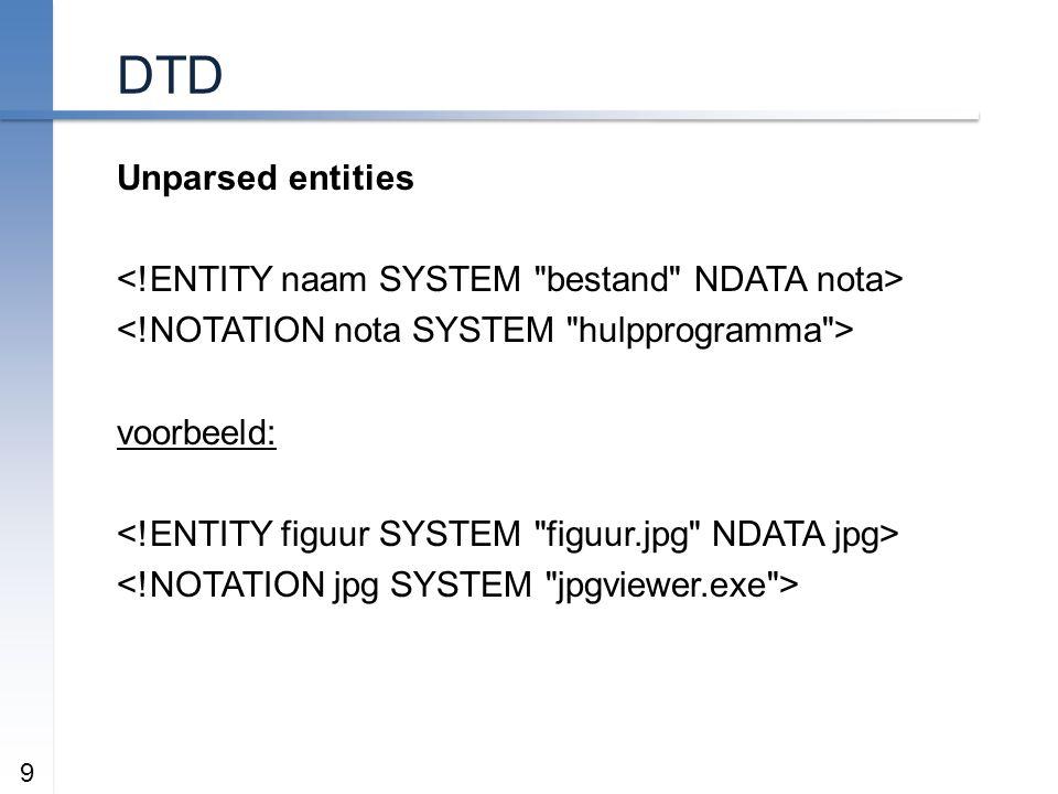 DTD Unparsed entities voorbeeld: 9