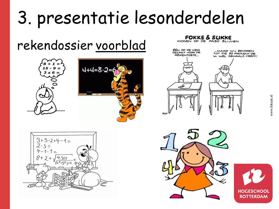 3. presentatie lesonderdelen rekendossier voorblad