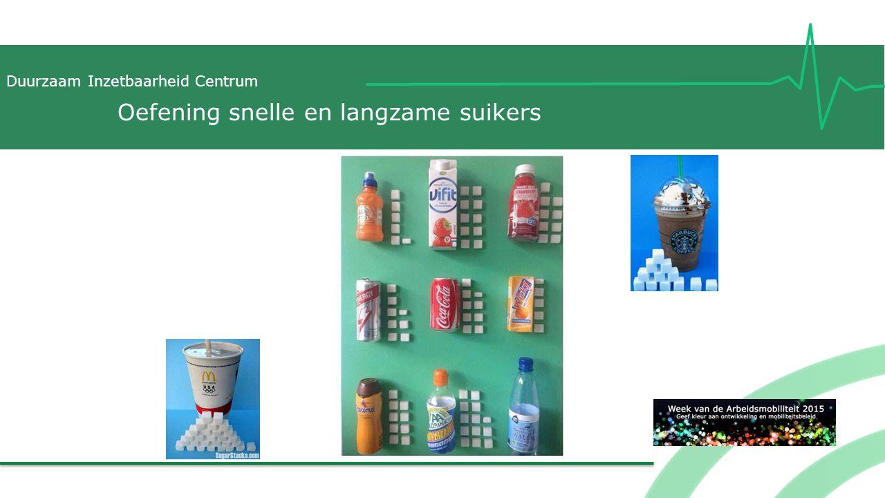 Duurzaam Inzetbaarheid Centrum Oefening snelle en langzame suikers