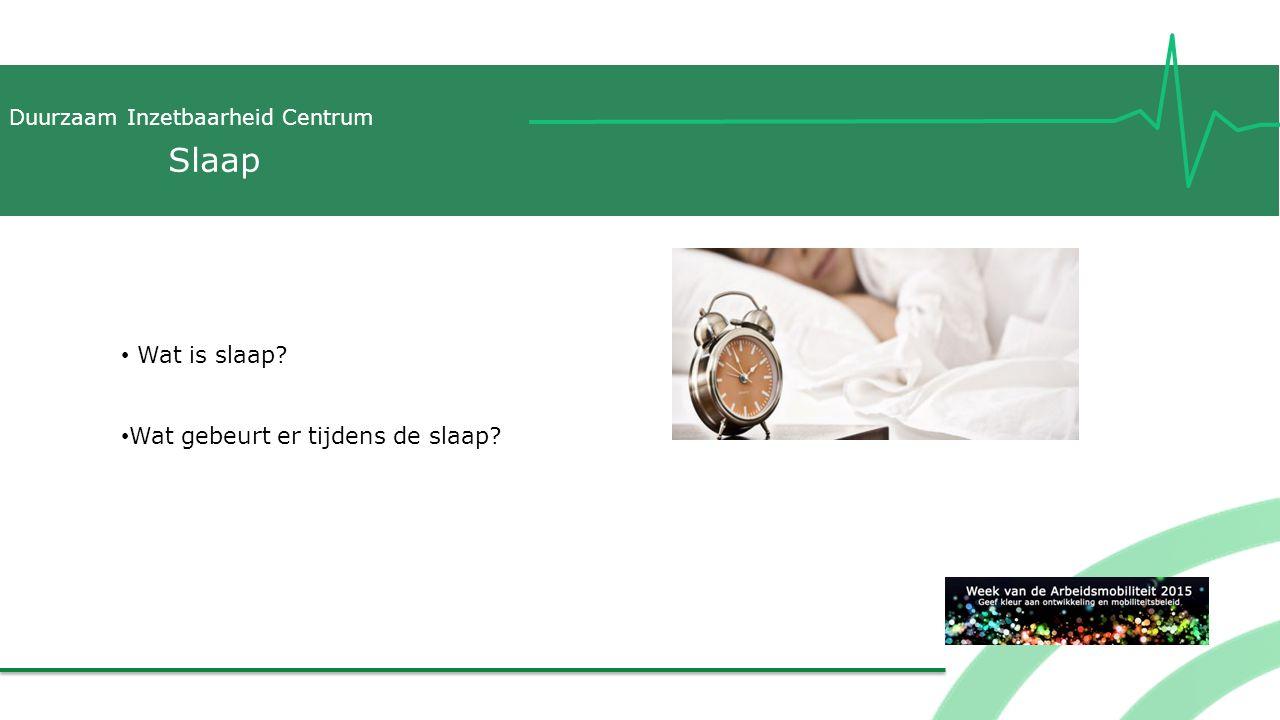 Duurzaam Inzetbaarheid Centrum Slaap Wat is slaap? Wat gebeurt er tijdens de slaap?